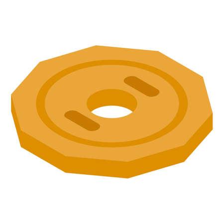 Gold token icon, isometric style Stock fotó - 155373965