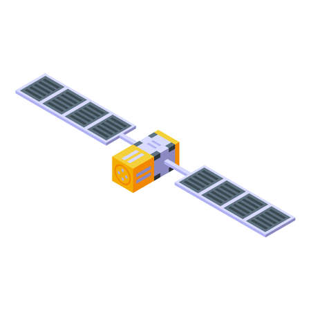 Space station pilot icon, isometric style