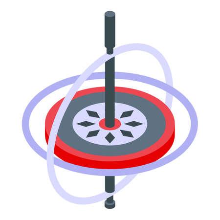 Aerospace gyroscope icon, isometric style