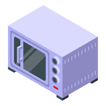 Convection oven hardware icon, isometric style