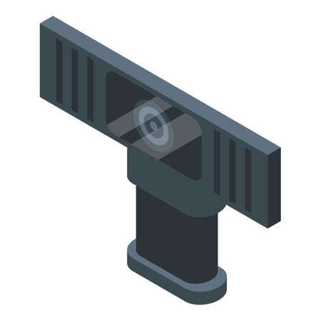 Car camcorder icon, isometric style