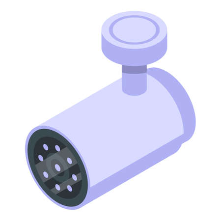 Waterproof security camera icon, isometric style