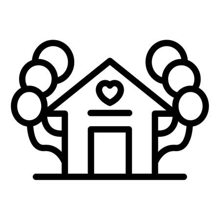 Family moments home icon, outline style