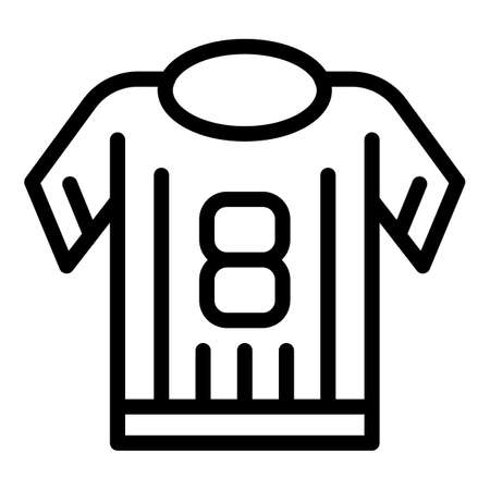 Sport shirt icon, outline style