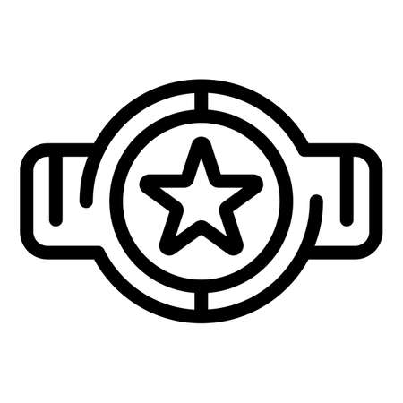 Box sport belt icon, outline style