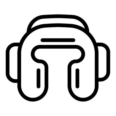 Boxing helmet icon, outline style