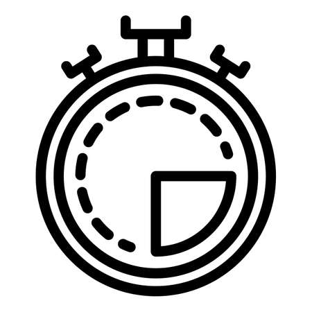 Referee stopwatch icon, outline style