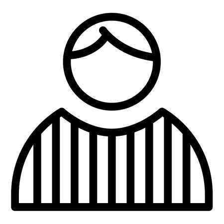 Young referee icon, outline style