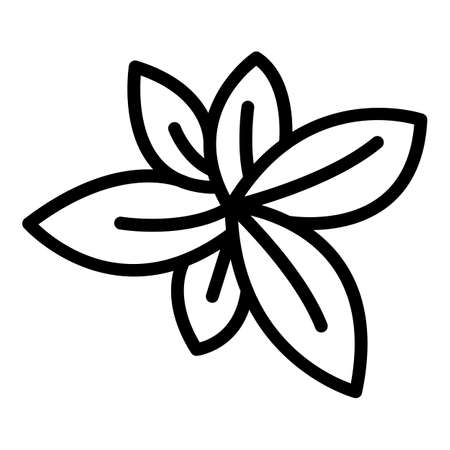 Basil plant icon, outline style  イラスト・ベクター素材