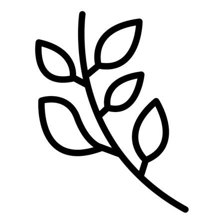 Basil branch icon, outline style