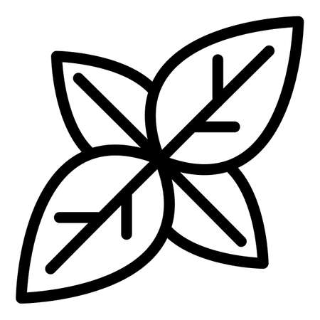 Basil agriculture icon, outline style