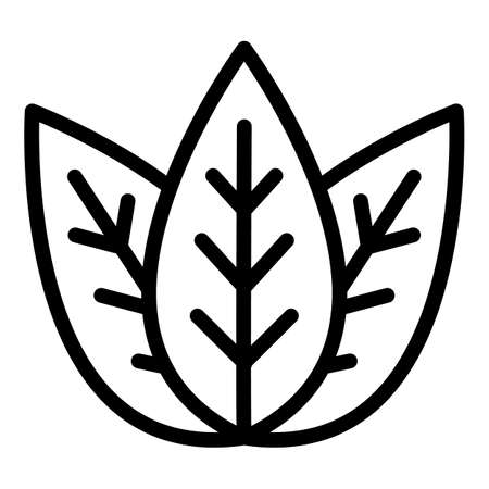 Basil aromatic icon, outline style