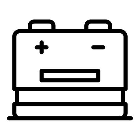 Recharge battery icon, outline style  イラスト・ベクター素材