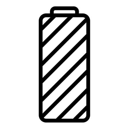Full lithium battery icon, outline style
