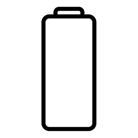 Empty battery icon, outline style  イラスト・ベクター素材