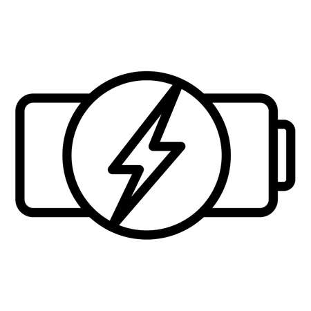 Quick charge battery icon, outline style