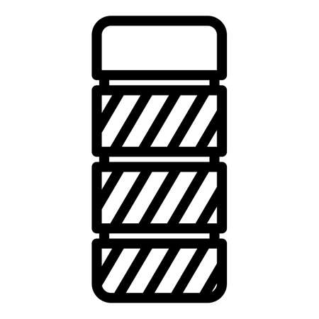 Power battery icon, outline style  イラスト・ベクター素材
