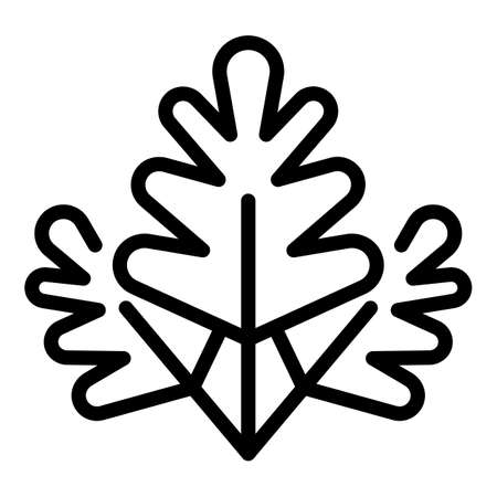 Parsley icon, outline style Иллюстрация