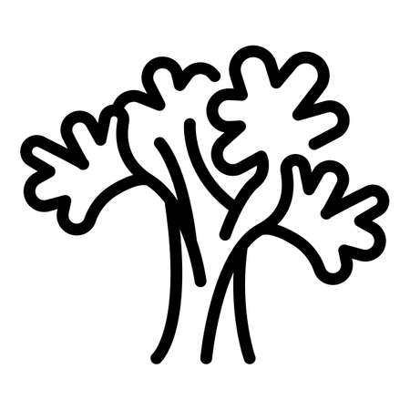 Parsley bunch icon, outline style