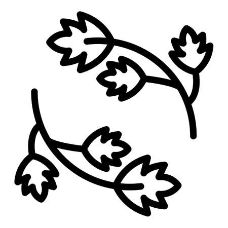 Parsley herb icon, outline style  イラスト・ベクター素材