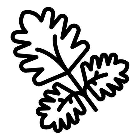 Parsley aromatic icon, outline style