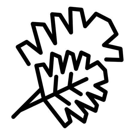 Parsley cuisine icon, outline style Иллюстрация