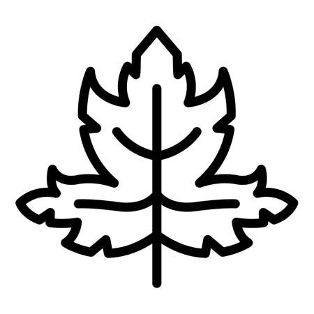Parsley farm icon, outline style