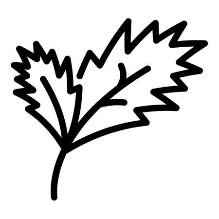 Parsley plant icon, outline style