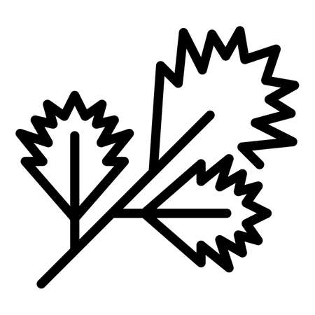 Parsley spice icon, outline style