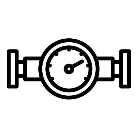 Manometer water icon, outline style  イラスト・ベクター素材