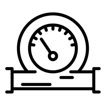 Manometer gauge icon, outline style