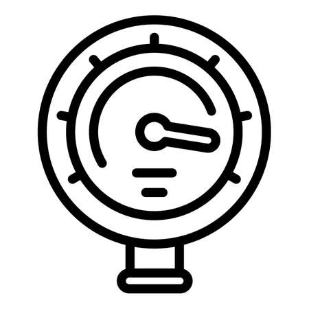 Manometer pressure icon, outline style