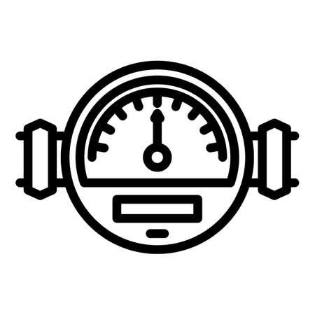 Manometer meter icon, outline style Иллюстрация