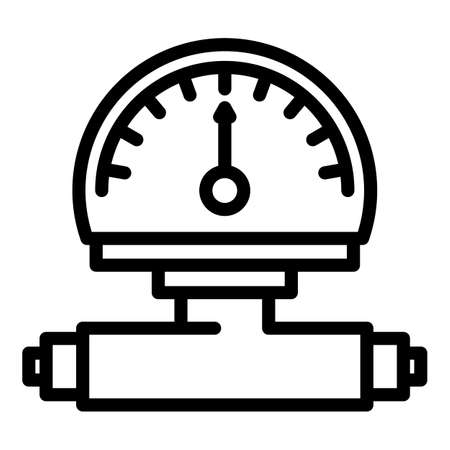 Manometer reading icon, outline style