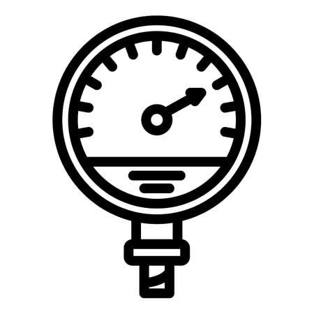 Manometer machine icon, outline style