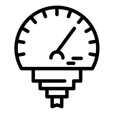 Manometer temperature icon, outline style