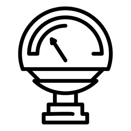 Manometer valve icon, outline style