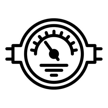 Manometer control icon, outline style  イラスト・ベクター素材
