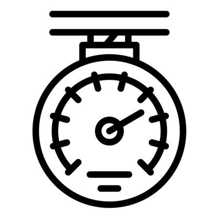 Manometer device icon, outline style