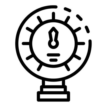 Manometer digital icon, outline style