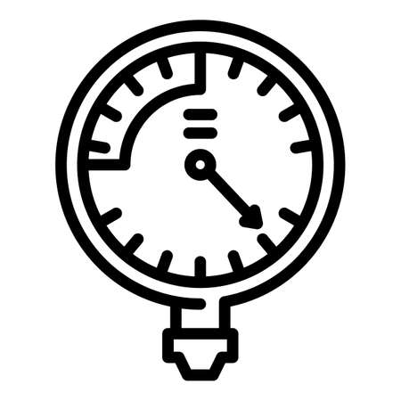 Manometer fuel icon, outline style