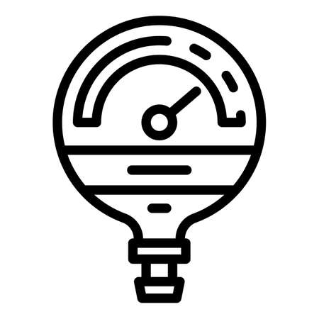 Manometer industrial icon, outline style  イラスト・ベクター素材
