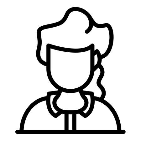Call center worker icon, outline style