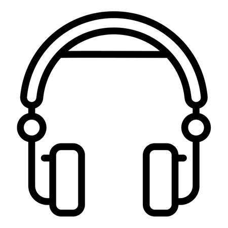 Customer headset icon, outline style