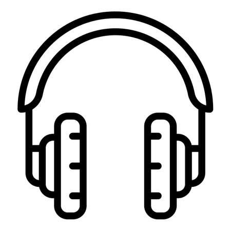 Modern headset icon, outline style Иллюстрация