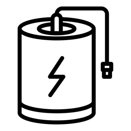 Barrel power bank icon, outline style