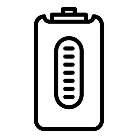 Smart power bank icon, outline style
