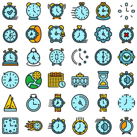 Stopwatch icons set vector flat