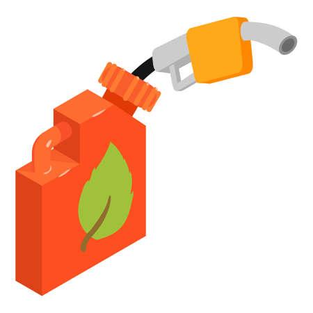 Biofuel icon, isometric style