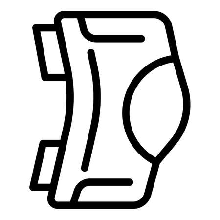 Knee bandage icon, outline style